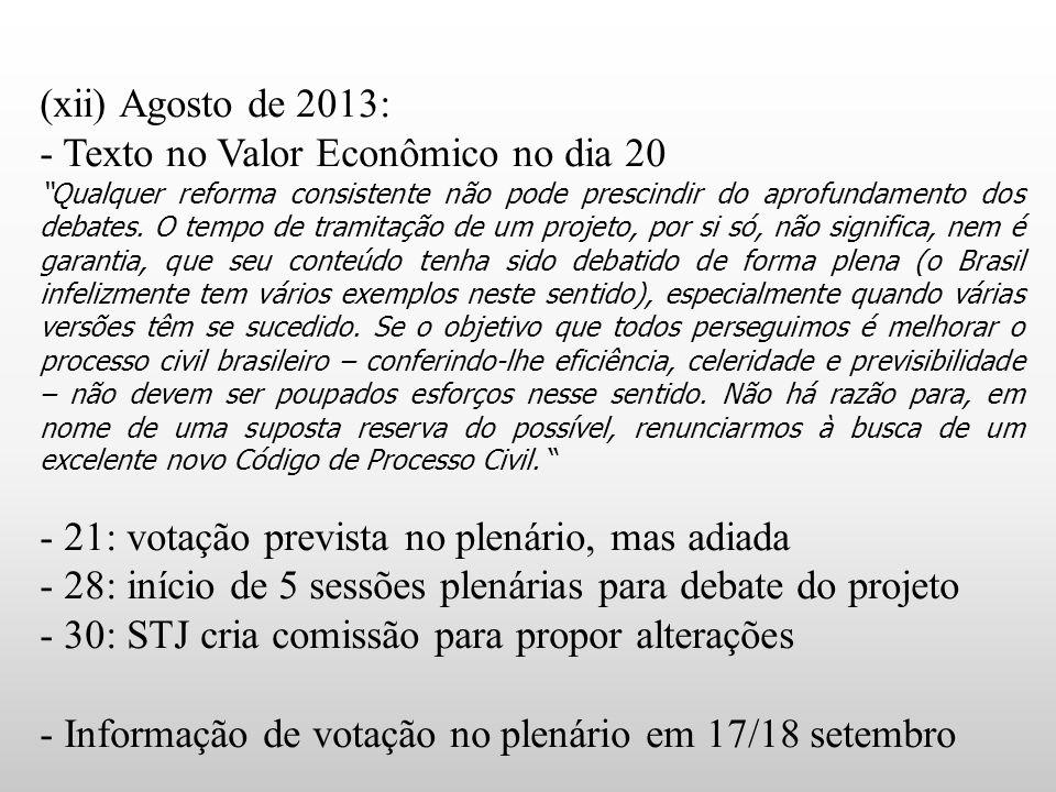 - Texto no Valor Econômico no dia 20