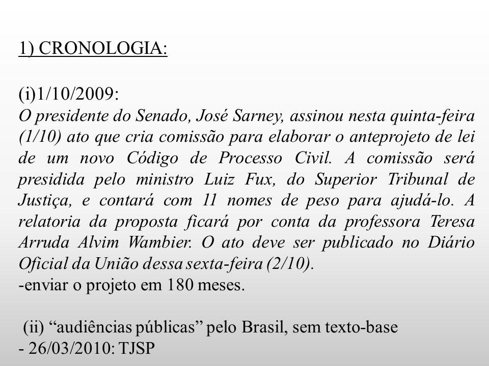 1) CRONOLOGIA: 1/10/2009: