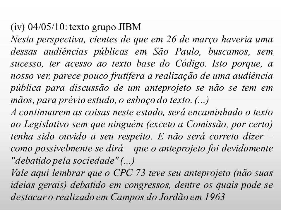 (iv) 04/05/10: texto grupo JIBM