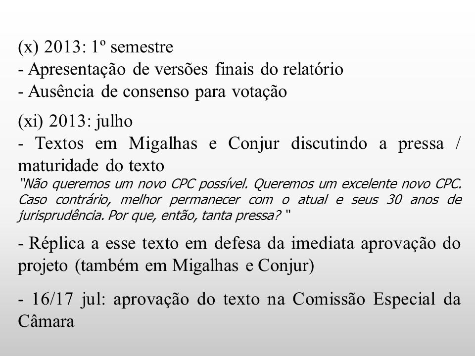 - Apresentação de versões finais do relatório