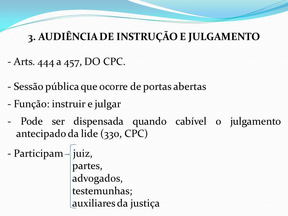 3. AUDIÊNCIA DE INSTRUÇÃO E JULGAMENTO