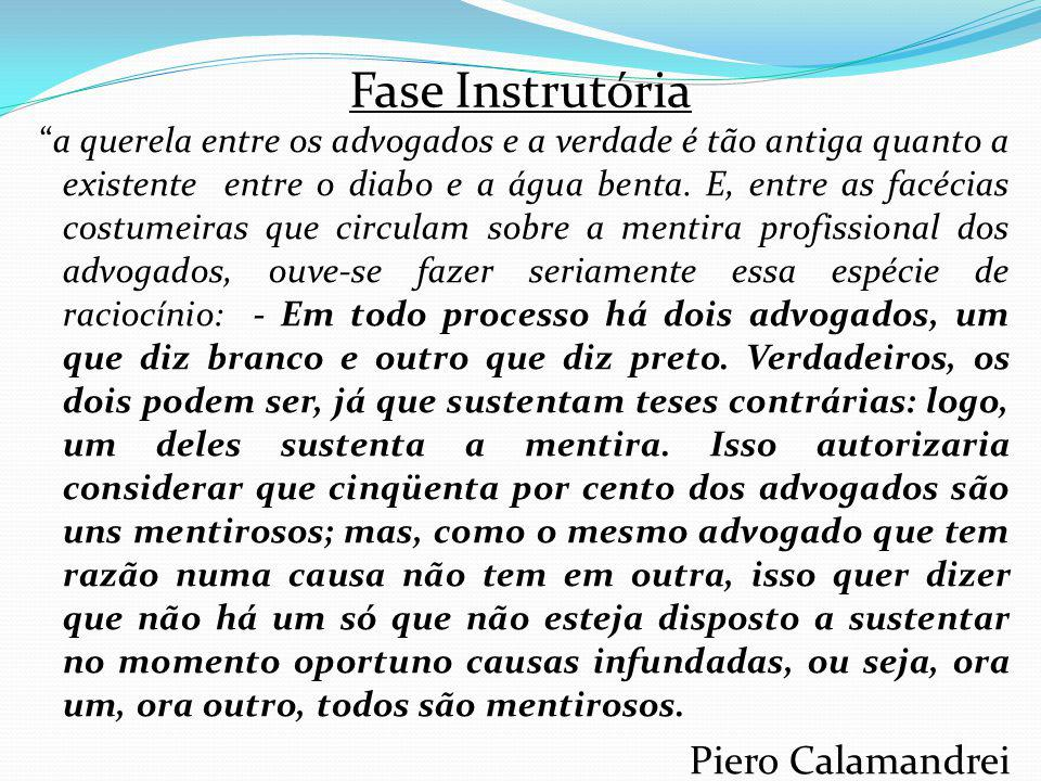 Fase Instrutória Piero Calamandrei