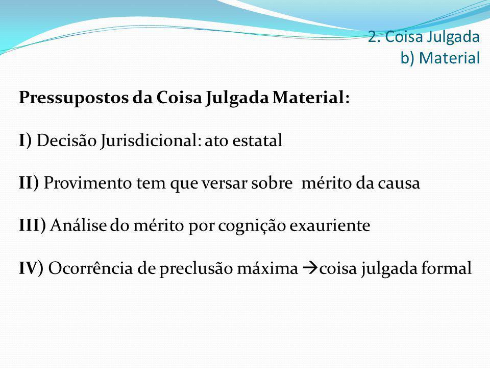 2. Coisa Julgada b) Material