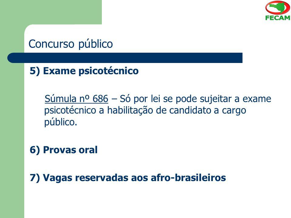 Concurso público 5) Exame psicotécnico