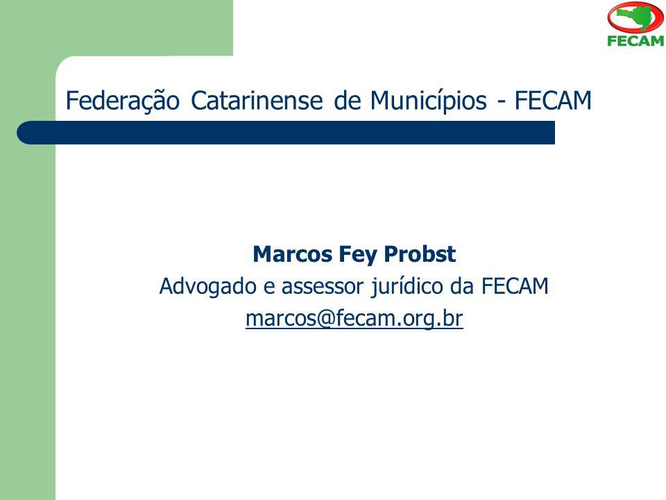 Federação Catarinense de Municípios - FECAM