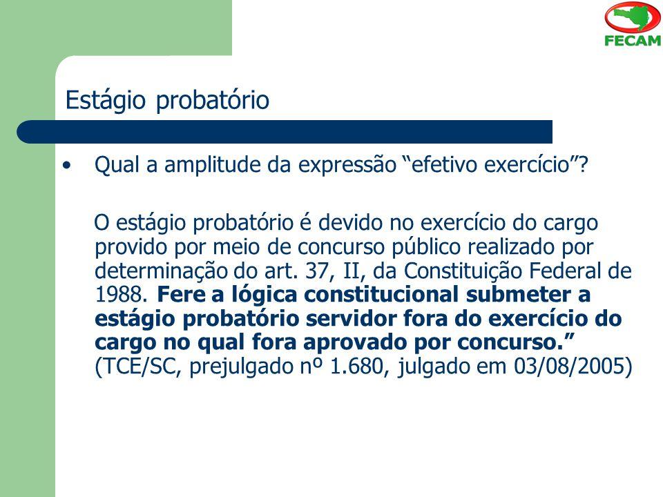 Estágio probatório Qual a amplitude da expressão efetivo exercício
