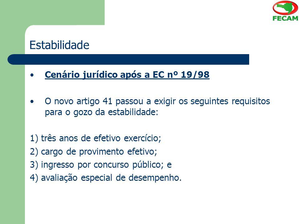 Estabilidade Cenário jurídico após a EC nº 19/98