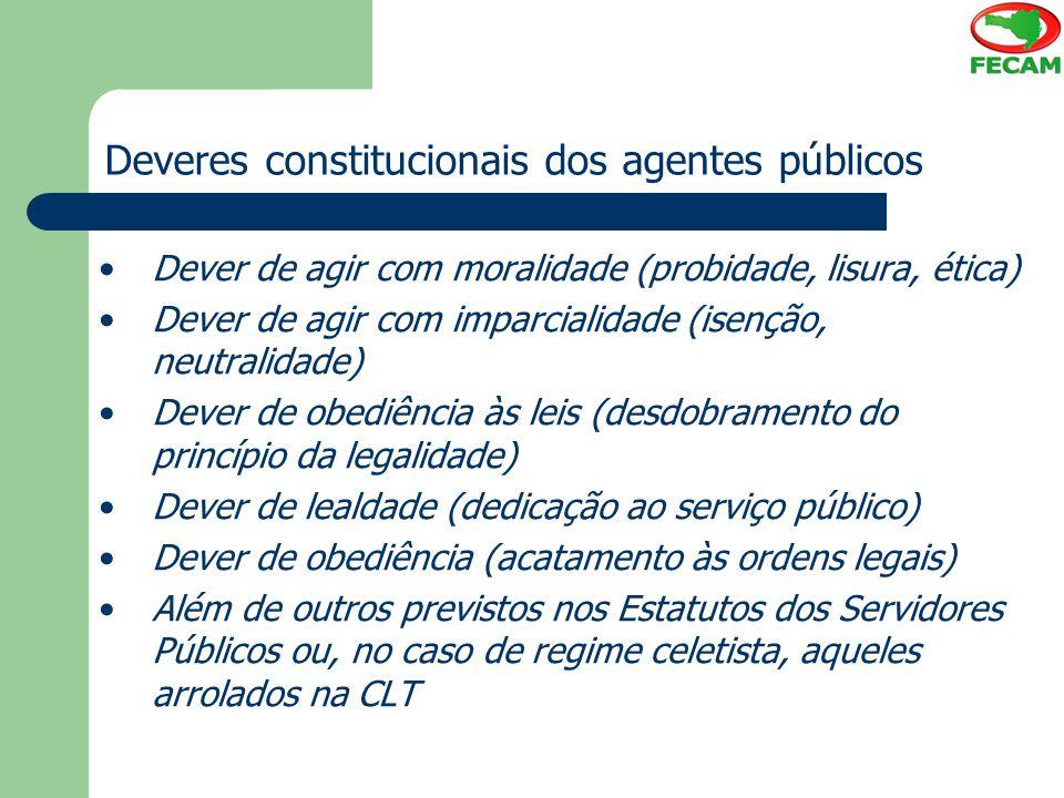 Deveres constitucionais dos agentes públicos