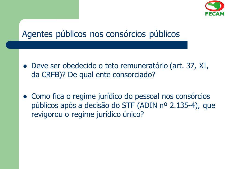 Agentes públicos nos consórcios públicos