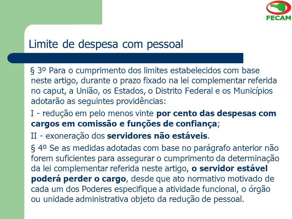 Limite de despesa com pessoal