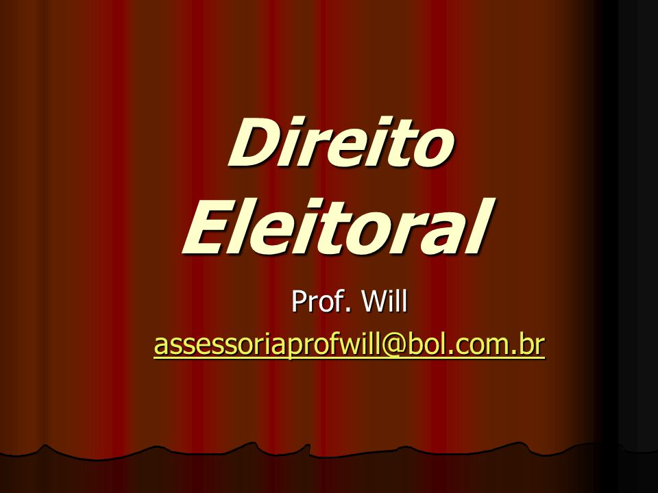 Prof. Will assessoriaprofwill@bol.com.br
