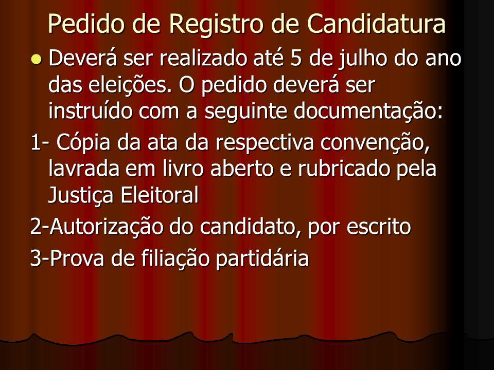 Pedido de Registro de Candidatura
