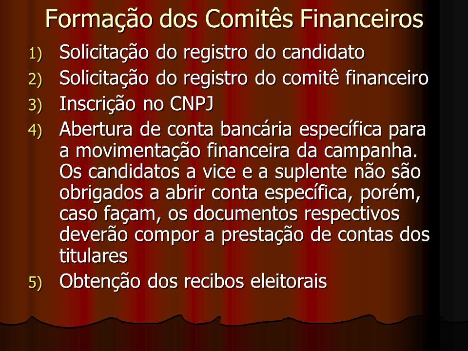 Formação dos Comitês Financeiros
