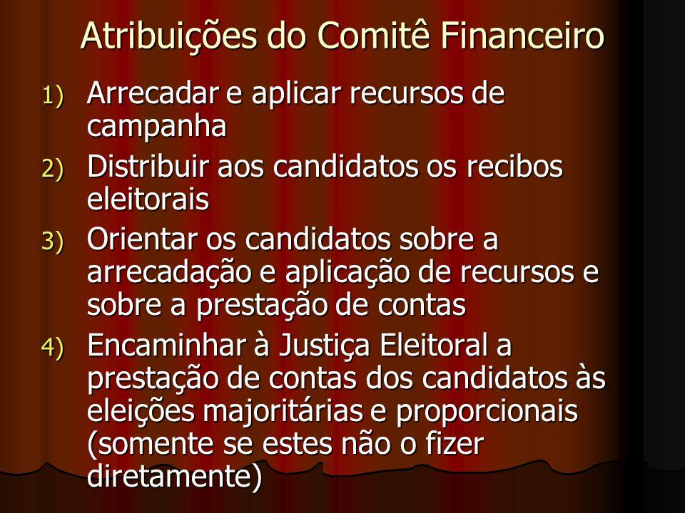 Atribuições do Comitê Financeiro