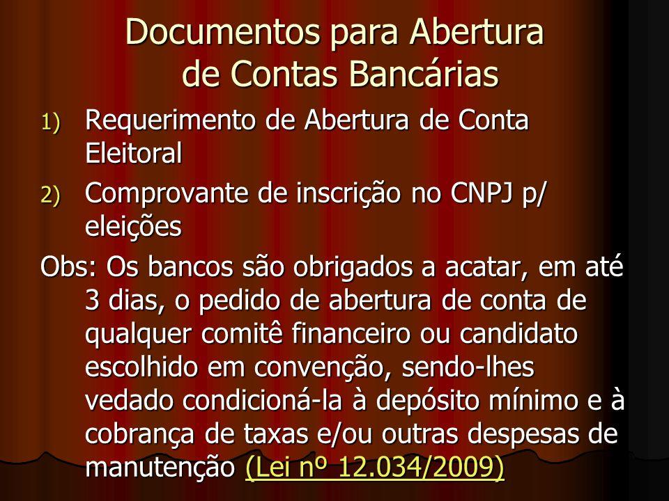 Documentos para Abertura de Contas Bancárias