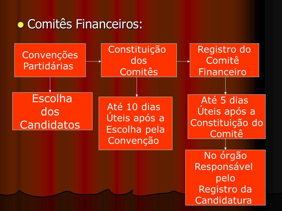 Comitês Financeiros: Escolha dos Candidatos Convenções Partidárias