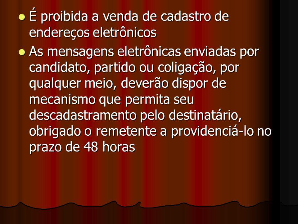 É proibida a venda de cadastro de endereços eletrônicos
