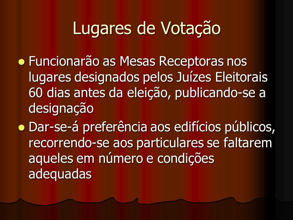 Lugares de Votação