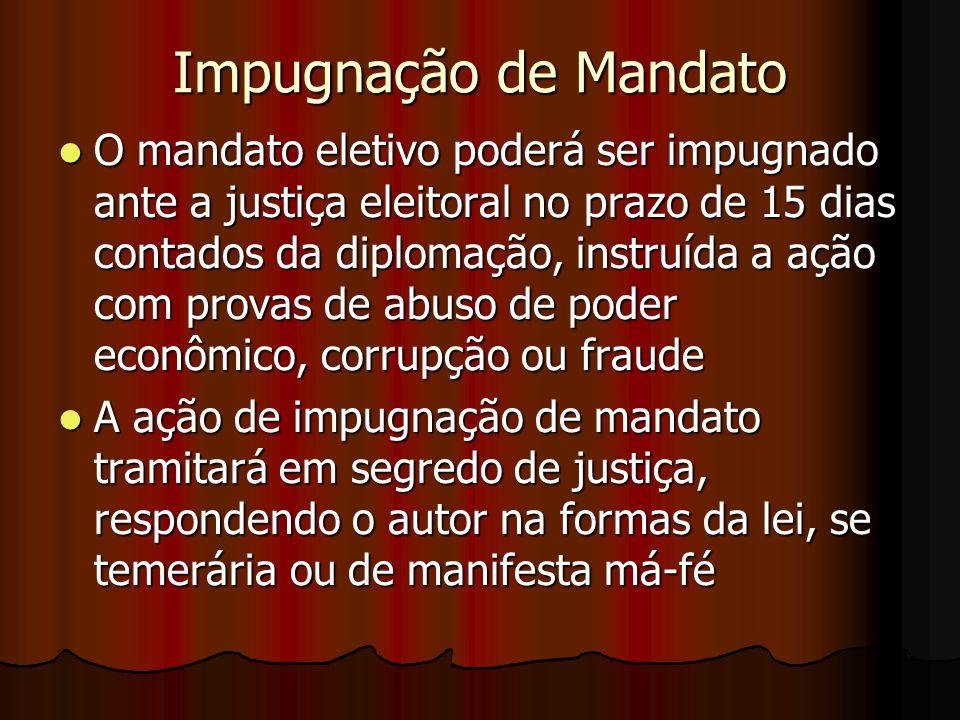 Impugnação de Mandato
