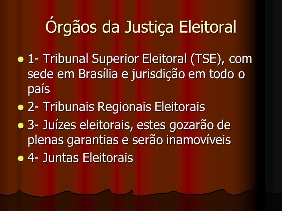 Órgãos da Justiça Eleitoral
