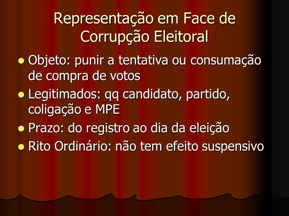 Representação em Face de Corrupção Eleitoral