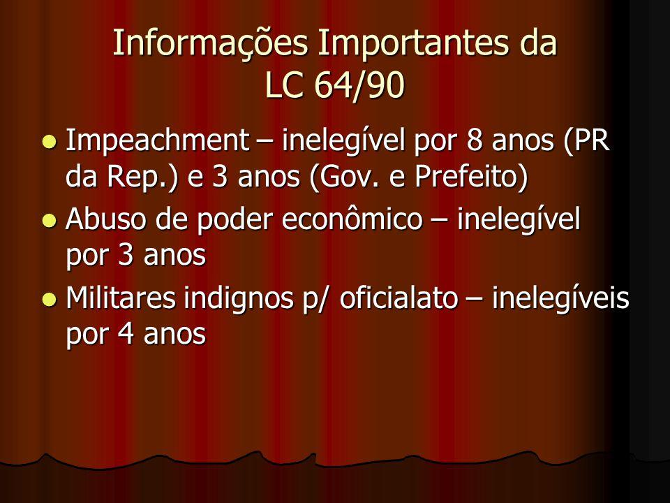 Informações Importantes da LC 64/90