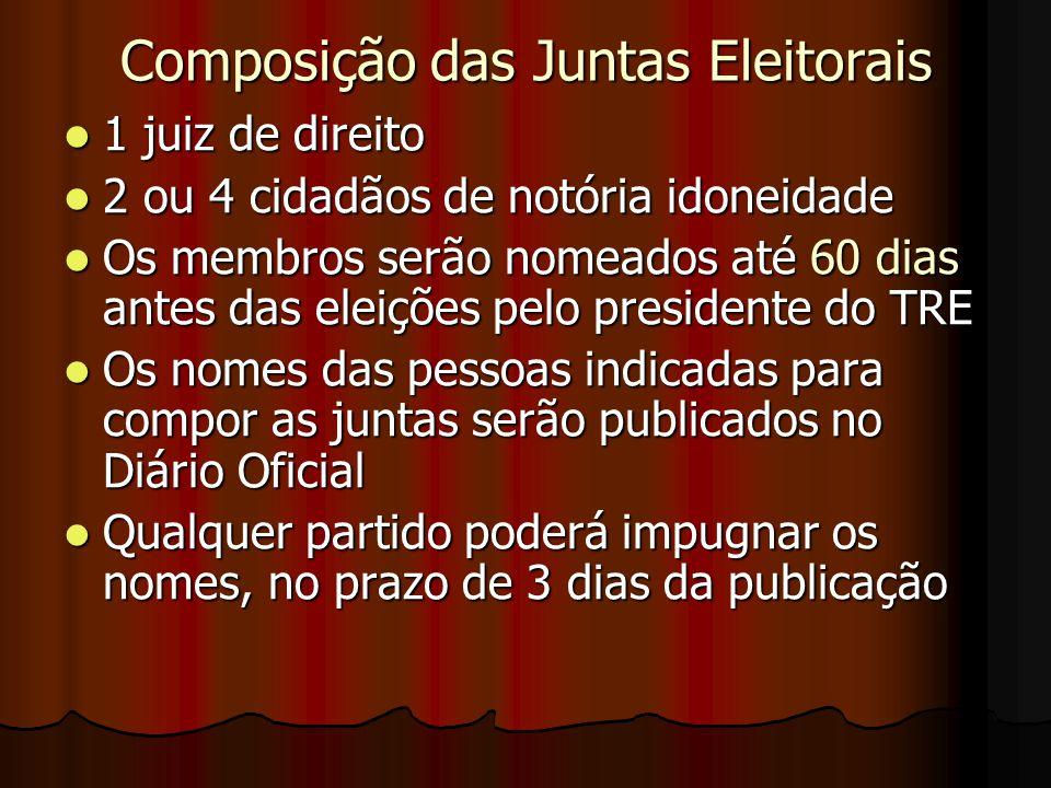 Composição das Juntas Eleitorais