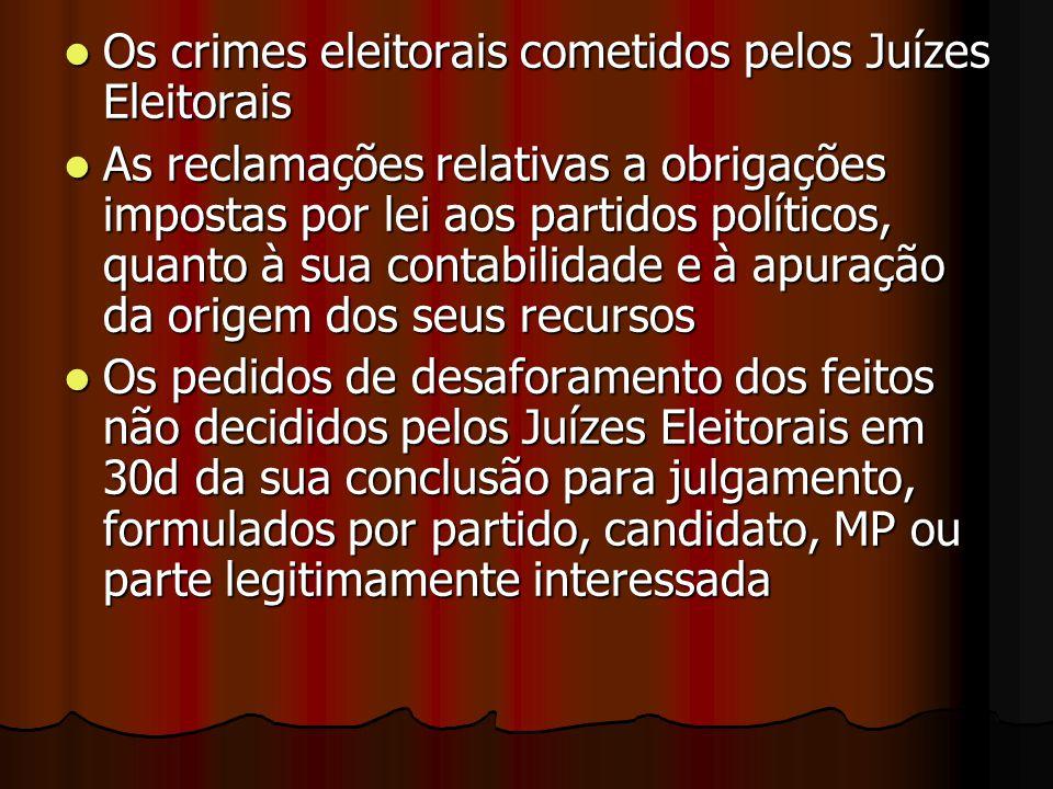 Os crimes eleitorais cometidos pelos Juízes Eleitorais