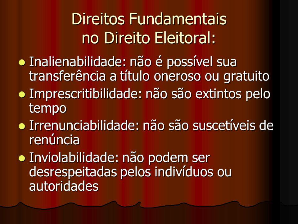 Direitos Fundamentais no Direito Eleitoral: