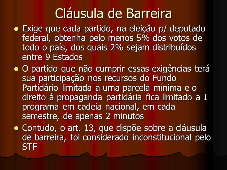 Cláusula de Barreira