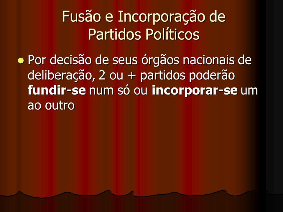 Fusão e Incorporação de Partidos Políticos