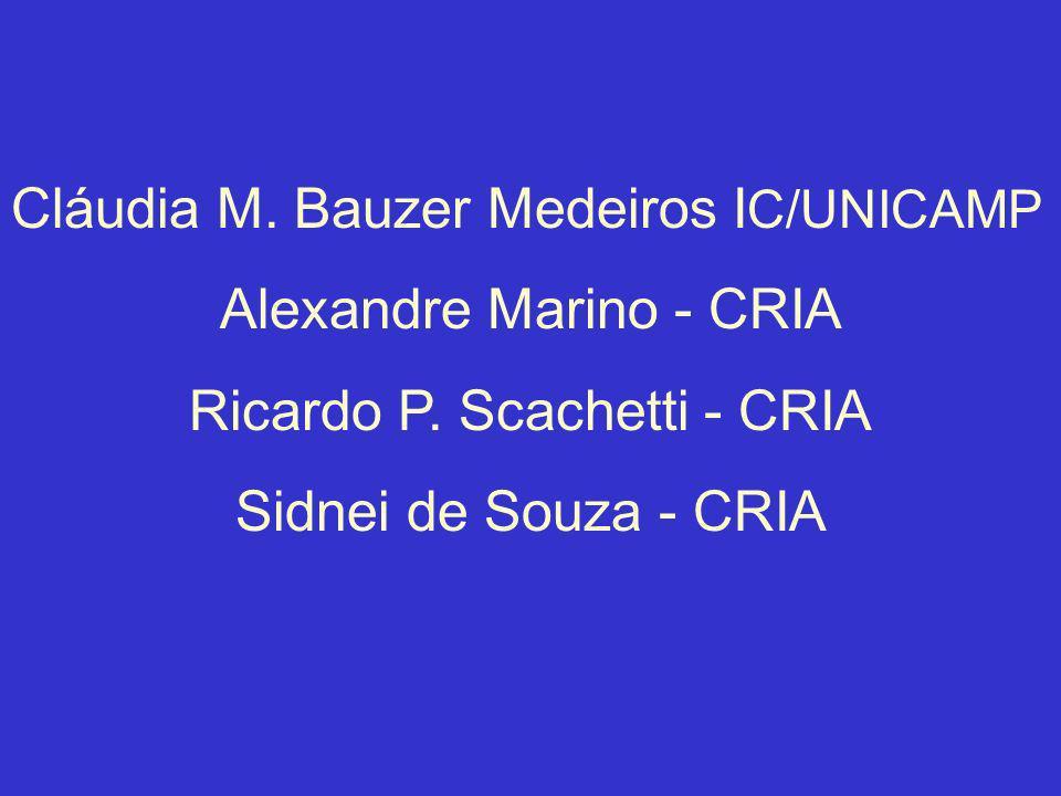 Cláudia M. Bauzer Medeiros IC/UNICAMP Alexandre Marino - CRIA