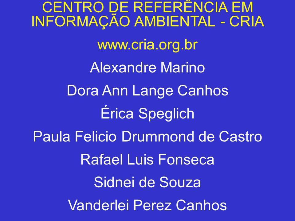 CENTRO DE REFERÊNCIA EM INFORMAÇÃO AMBIENTAL - CRIA www.cria.org.br
