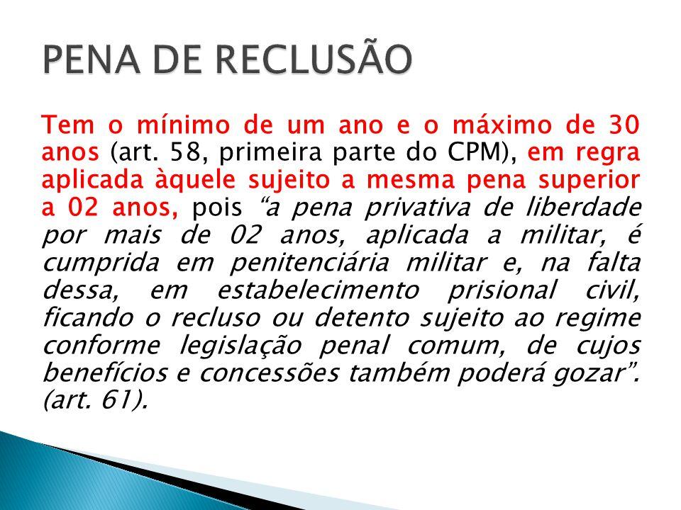 PENA DE RECLUSÃO