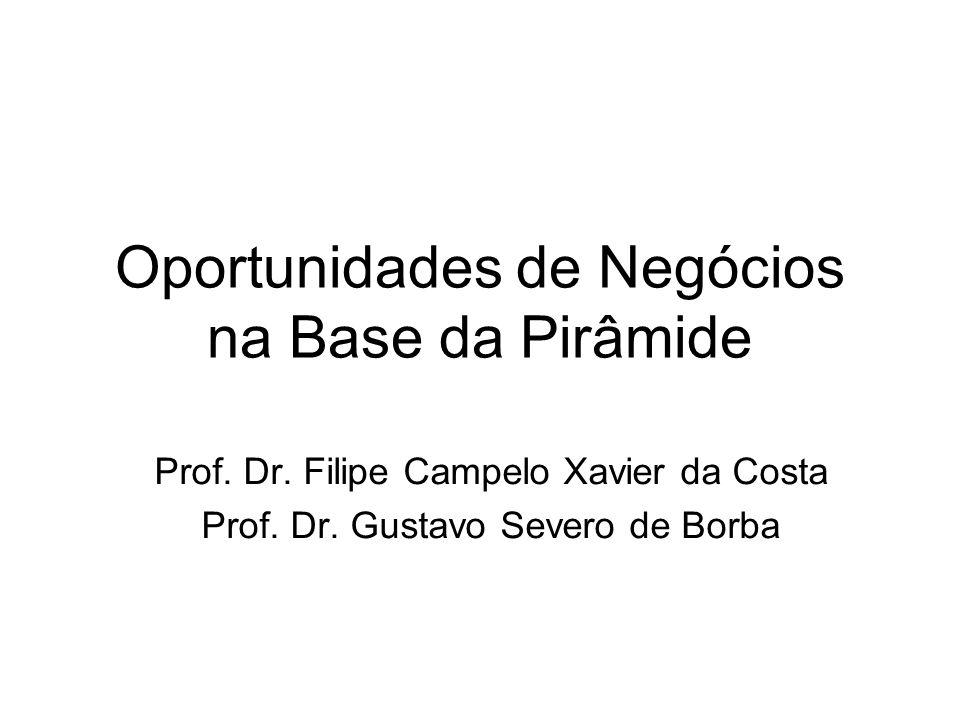 Oportunidades de Negócios na Base da Pirâmide