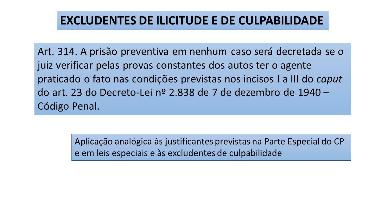 EXCLUDENTES DE ILICITUDE E DE CULPABILIDADE
