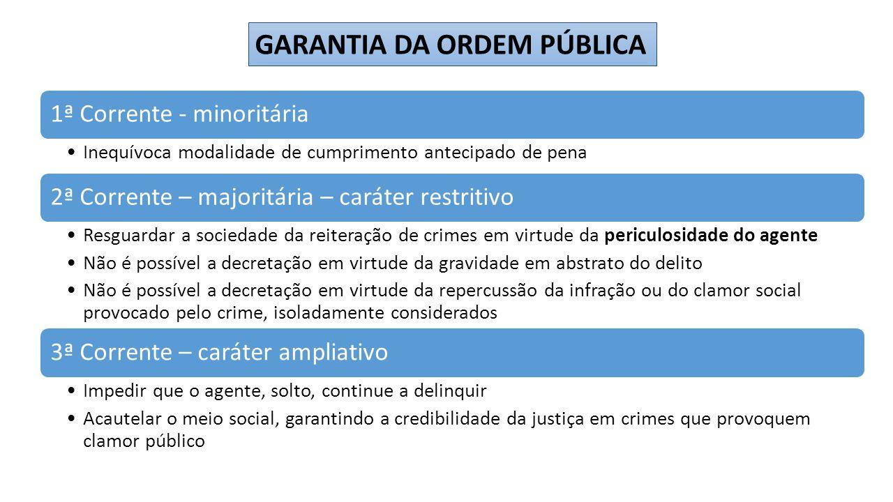 GARANTIA DA ORDEM PÚBLICA