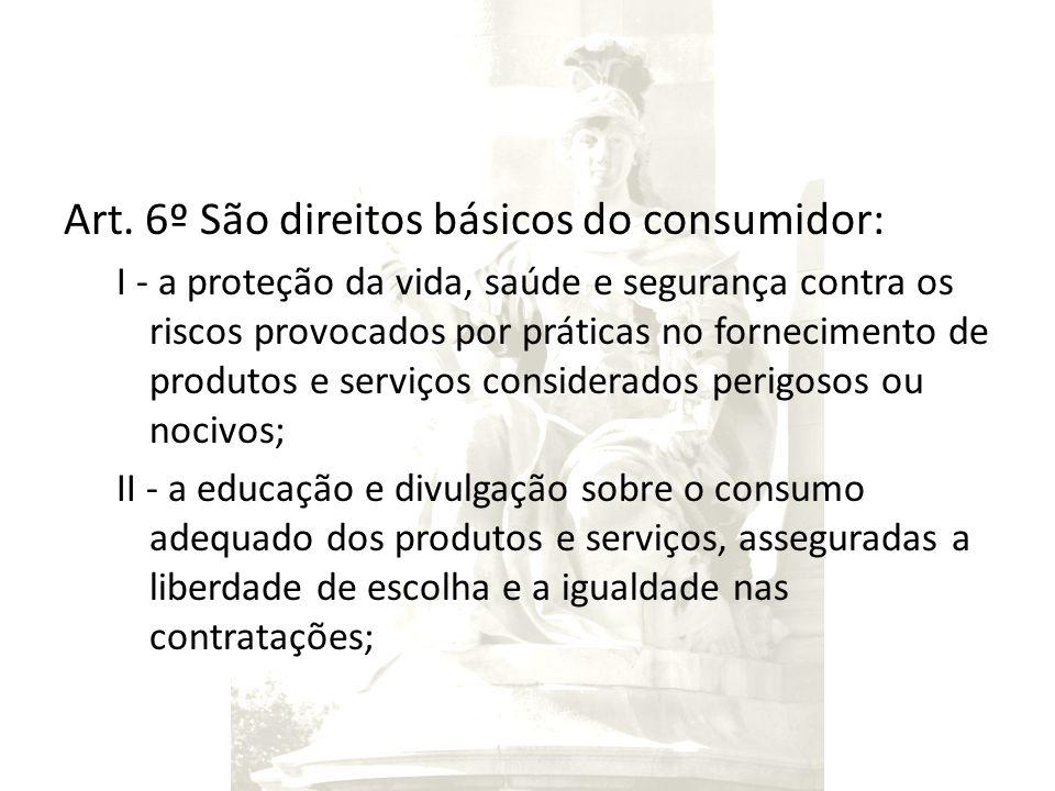Art. 6º São direitos básicos do consumidor: