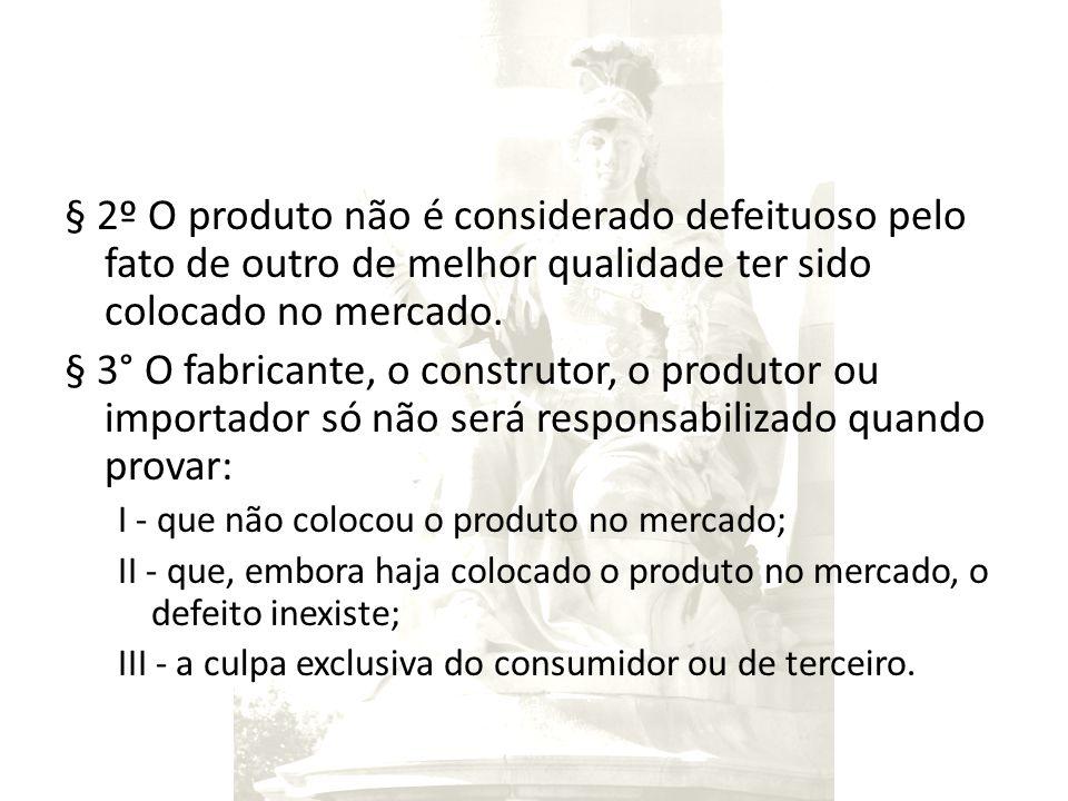 § 2º O produto não é considerado defeituoso pelo fato de outro de melhor qualidade ter sido colocado no mercado.