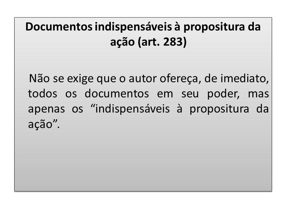 Documentos indispensáveis à propositura da ação (art
