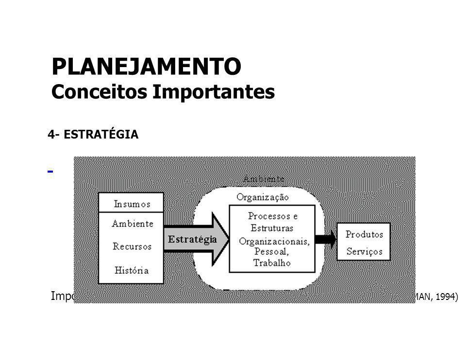 PLANEJAMENTO Conceitos Importantes 4- ESTRATÉGIA