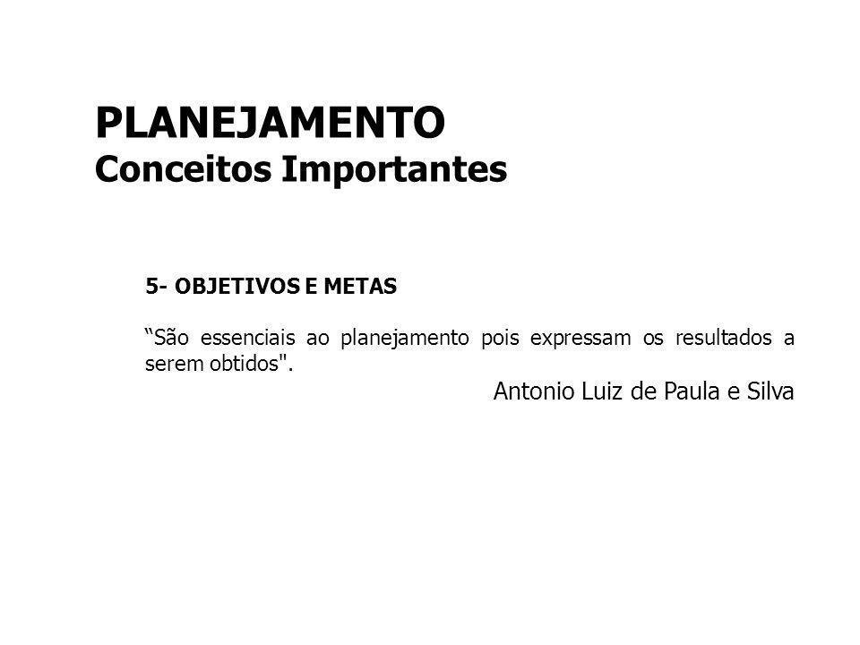 PLANEJAMENTO Conceitos Importantes Antonio Luiz de Paula e Silva
