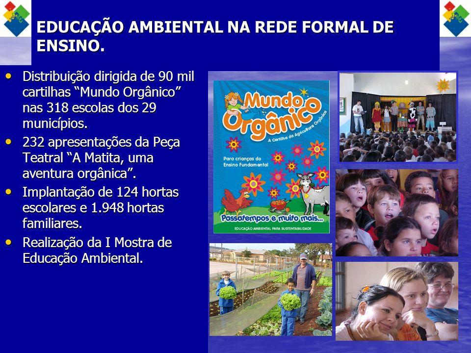 EDUCAÇÃO AMBIENTAL NA REDE FORMAL DE ENSINO.