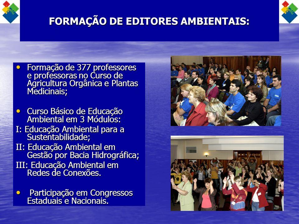 FORMAÇÃO DE EDITORES AMBIENTAIS: