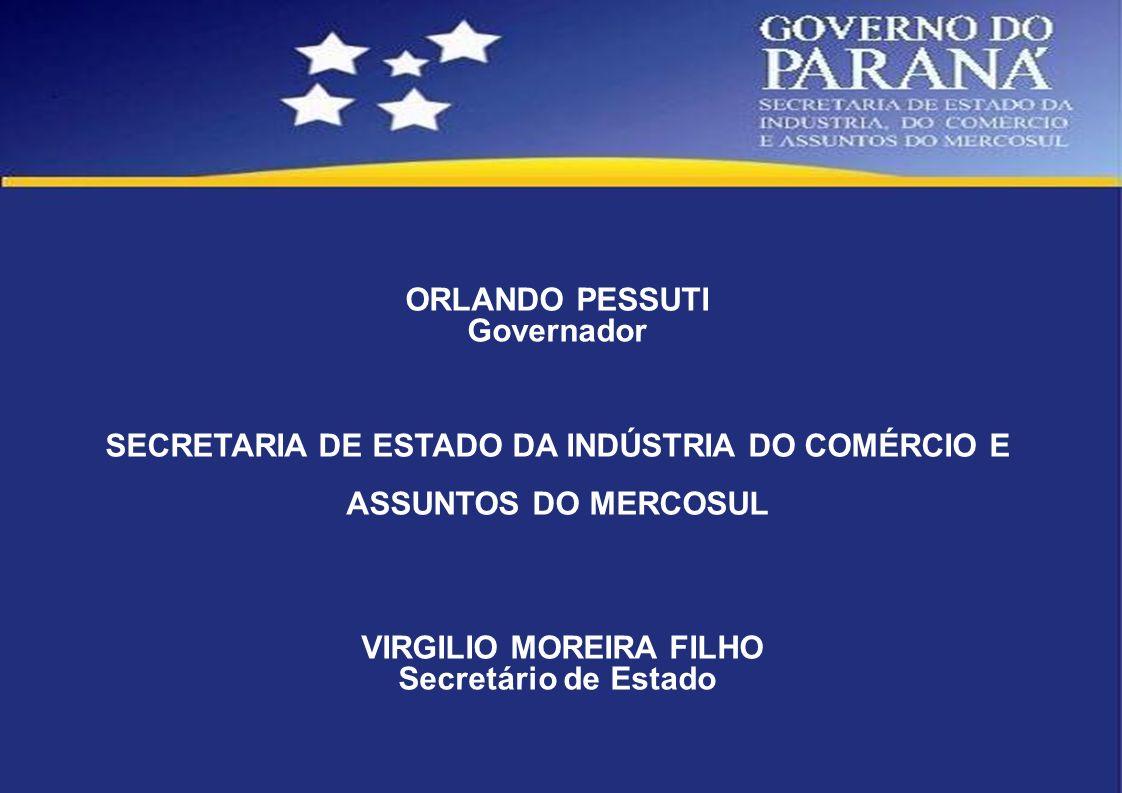 SECRETARIA DE ESTADO DA INDÚSTRIA DO COMÉRCIO E ASSUNTOS DO MERCOSUL