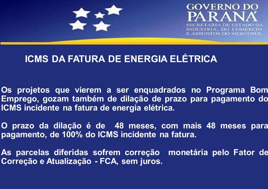 ICMS DA FATURA DE ENERGIA ELÉTRICA