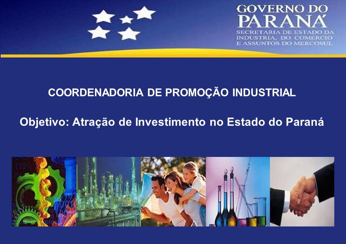 Objetivo: Atração de Investimento no Estado do Paraná