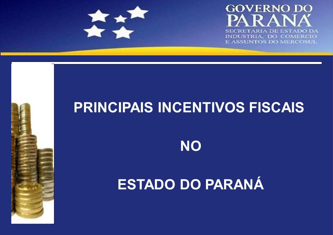 PRINCIPAIS INCENTIVOS FISCAIS
