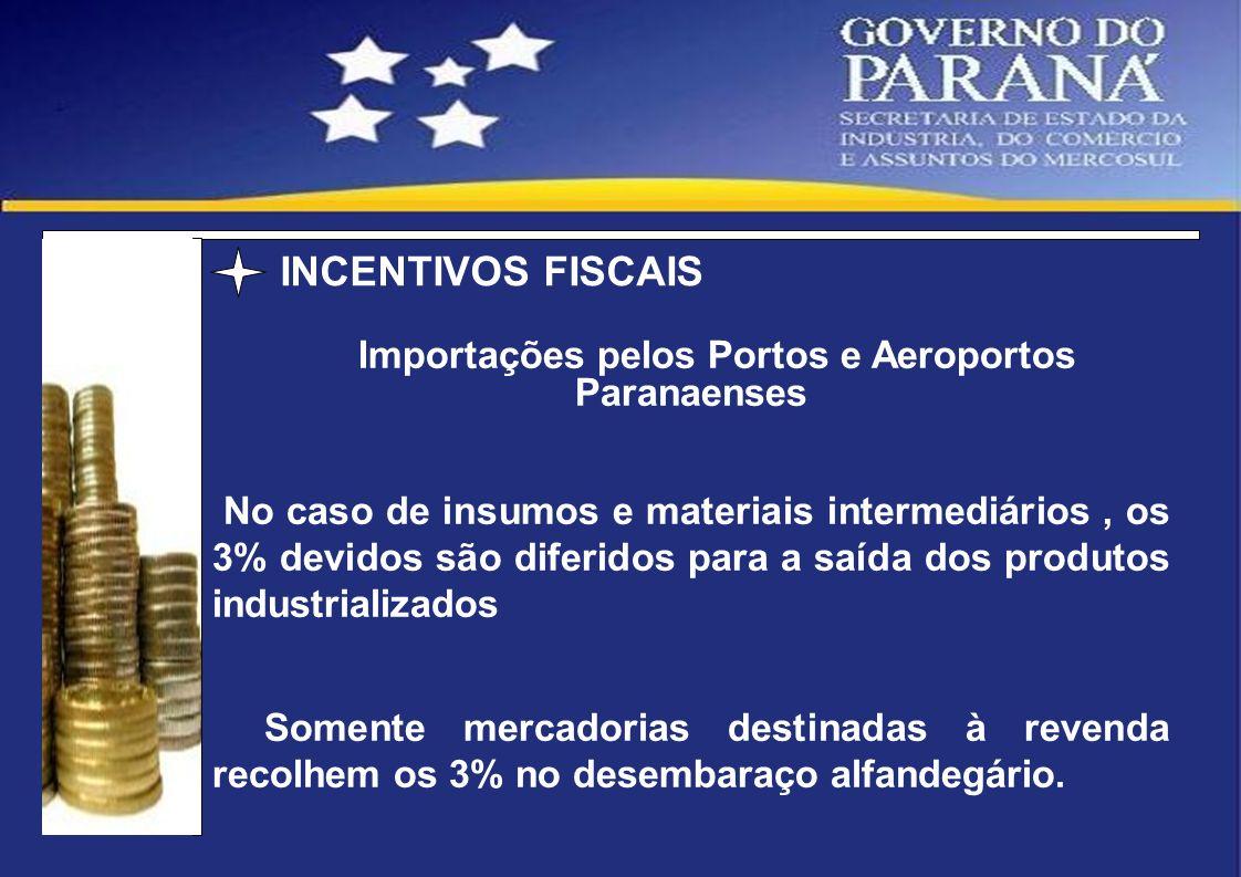 Importações pelos Portos e Aeroportos Paranaenses