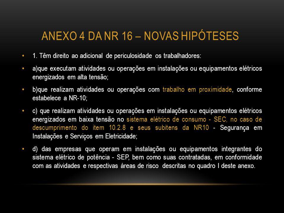 Anexo 4 da nr 16 – novas hipóteses
